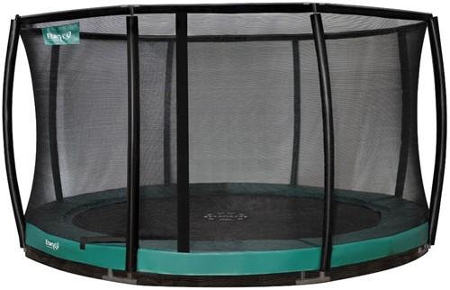 Etan Premium Gold Combi DeluxeInground Trampoline met Veiligheidsnet - 427 cm - Groen