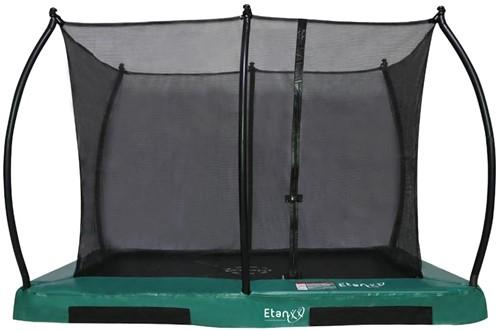 Etan Hi-Flyer CombiInground Trampoline met Veiligheidsnet - 281 x 201 cm - Groen
