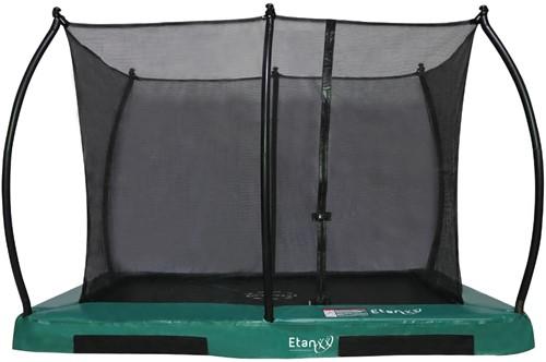 Etan Hi-Flyer CombiInground Trampoline met Veiligheidsnet - 310 x 232 cm - Groen