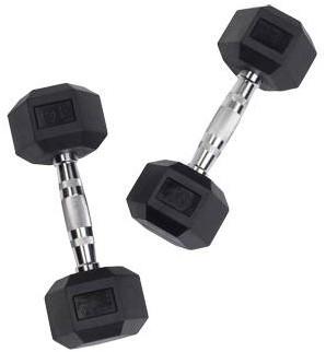 Body-Solid Hexagon Dumbbell - Rubber - 6 kg - Per Paar