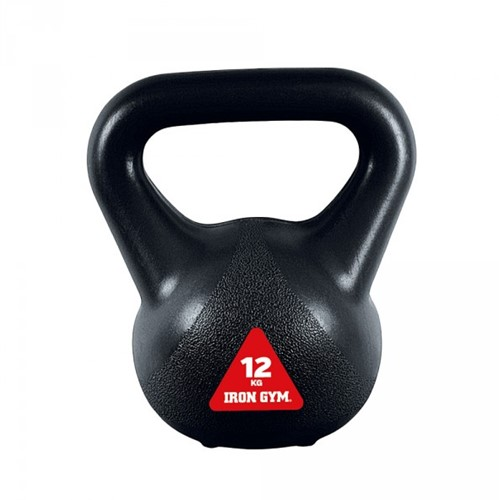 Iron Gym Vinyl Kettlebell - Zwart - 12 kg