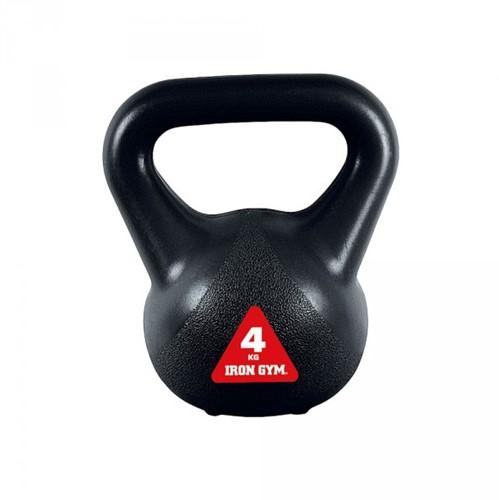 Iron Gym Vinyl Kettlebell - Zwart - 4 kg