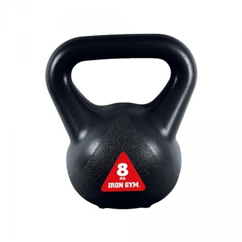 Iron Gym Vinyl Kettlebell - Zwart - 8 kg