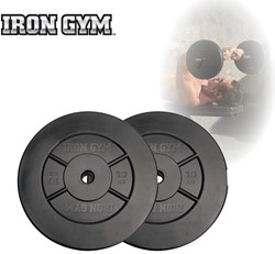 Iron Gym 20kg Plate Set, 2 x 10kg - 25mm