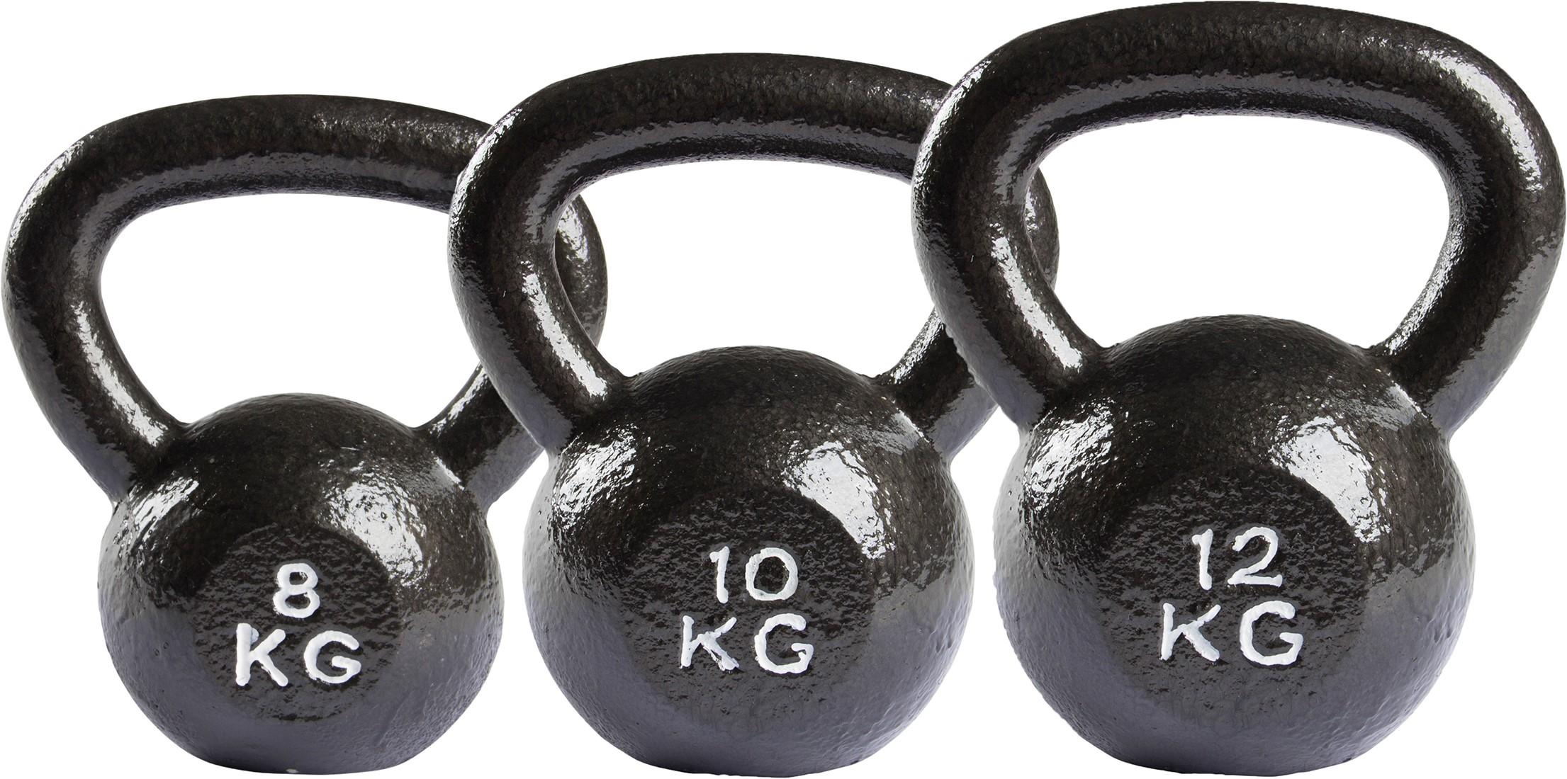 virtufit kettlebell set gietijzer 8 10 12 kg fitnessapparaat nl