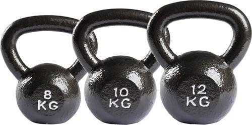 VirtuFit Kettlebell Set Gietijzer 8-10-12 kg