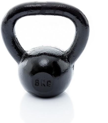 Muscle Power Gietijzeren Kettlebell - Zwart - 8 kg