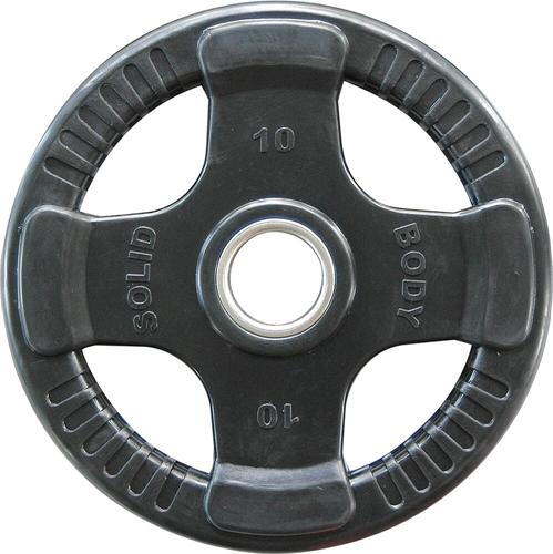 Body-Solid Olympische Rubber Halterschijf - 10 kg - Tweedekans
