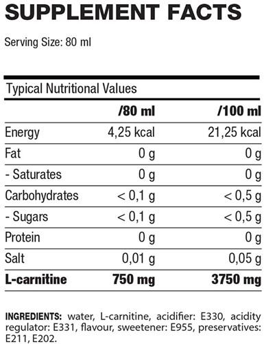 QNT L-Carnitine 3000 mg 12 X 80 ML-3