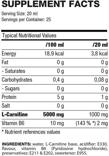 QNT L-Carnitine Liquid - 500ml - Raspberry-2