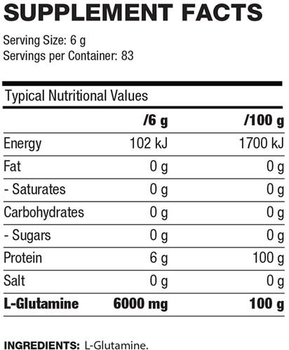 QNT L-Glutamine 6000 - 500g-2