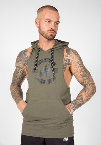 Gorilla Wear Lawrence Hooded Tank Top - Legergroen