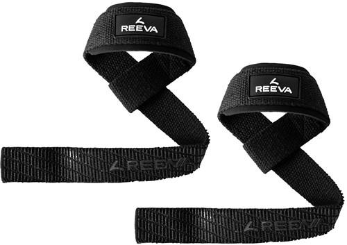 Reeva Lifting Straps met Padding - Zwart