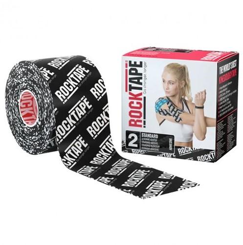 RockTape Classic Kinesiotape - Sporttape - 5 cm x 5 m - Zwart Logo