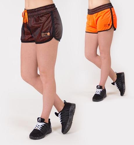 Gorilla Wear Madison Reversible Shorts - Zwart/Neon Oranje