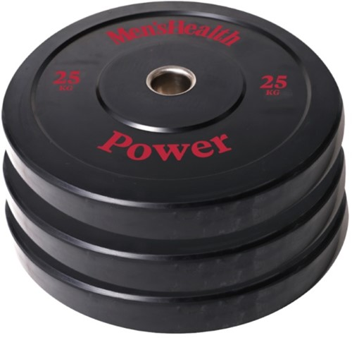 Men's Health Bumper Plate - Halterschijf - 50 mm - 25 kg