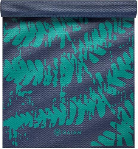 Gaiam Yoga Mat - 4 mm - Midnight Fern