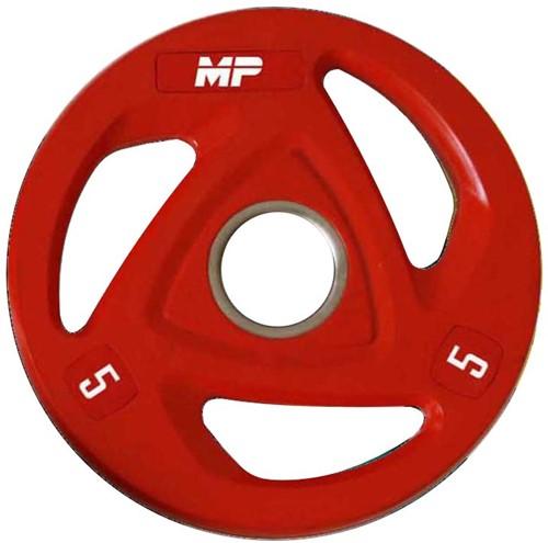 Muscle Power Rubberen Halterschijf - Rood - 5 kg (50 mm)