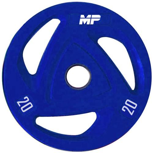 Muscle Power Rubberen Halterschijf - Blauw - 20 kg (50 mm)