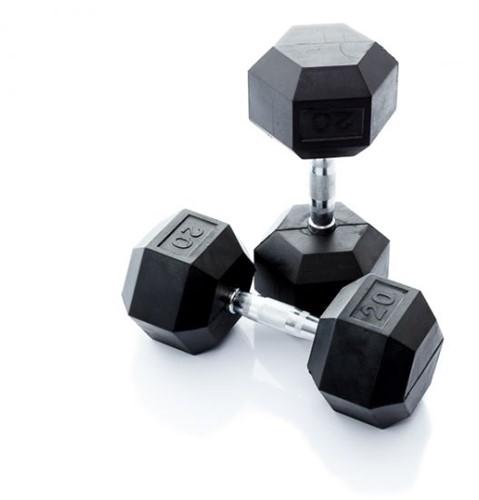 Muscle Power Hexa Dumbbell - 20 kg - Per Stuk