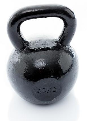 Muscle Power Gietijzeren Kettlebell - Zwart - 40 kg