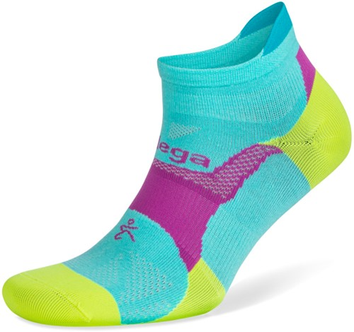 Balega Hidden Dry Sportsok - Neon Aqua / Neon Lime