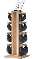 Nohrd Swing Bell Toren Set - Natural Oak - 2-4-6-8 kg-1