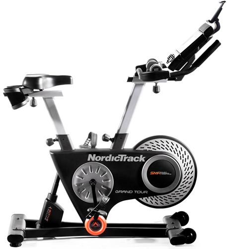 nordictrack grand tour spinbike zijkant detail