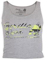 Gorilla Wear Oakland Crop Tank Gray/Neon Lime Camo