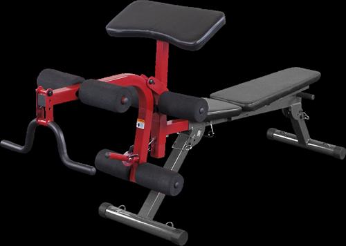 Body-Solid (Best Fitness) Leg Developer & Preacher Curl Uitbreiding - Rood - Tweedekans