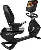 Life Fitness Platinum Discover SE3HD Ligfiets - Arctic Silver - Gratis montage