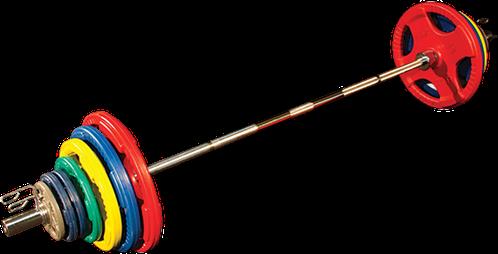 Body-Solid Olympische Halterset - Gekleurd Rubber - 200 kg