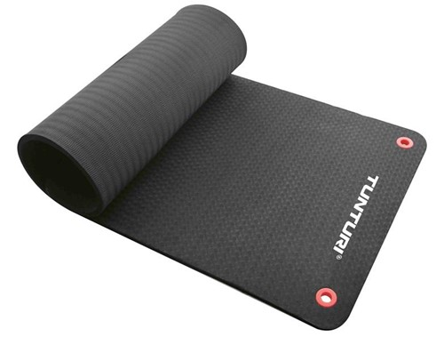 Tunturi Fitnessmat Pro - Yogamat - 140 x 60 cm - Zwart