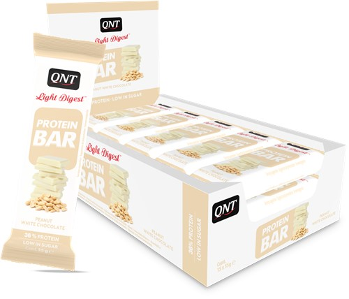 QNT Light Digest Protein Bar - 15 x 55 gr - Pinda's / Witte Chocolade