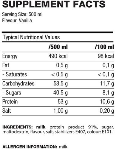QNT Protein Shake - 12 x 500 ML - Vanille-2