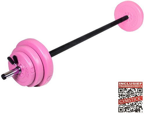 Gymstick Pump Set - Roze - 20 kg - Met Online Trainingsvideo's