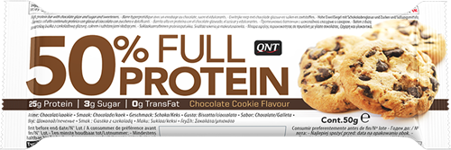 QNT  50% Full Protein Bar - 12  repen - Chocolate Cookie-2