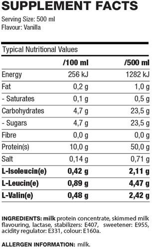 QNT Pro Shake - 12 x 500 ml - Vanille-2