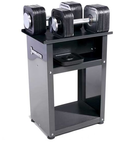 Ironmaster Quick-Lock Dumbbells Set met Rack - 34 kg