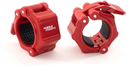 Muscle Power Quick Lock Collars - Rood