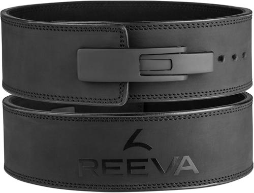 Reeva Leren Lifting Belt - Halterriem - Zwart