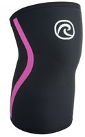 Rehband Kniebrace RX 7MM Black/Pink Stripes-1