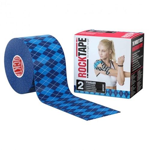 RockTape Classic Kinesiotape - Sporttape - 5 cm x 5 m - Blauw Ruit