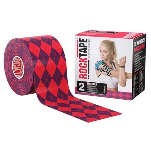 RockTape Classic Kinesiotape - Sporttape - 5 cm x 5 m - Roze Ruit