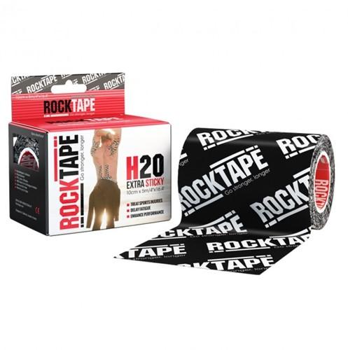 RockTape H20 Kinesiotape - Sporttape - 10 cm x 5 m - Zwart Logo