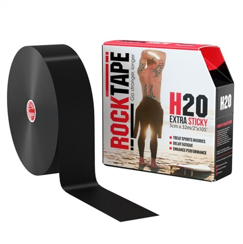 RockTape H20 Kinesiotape - Sporttape - 5 cm x 32 m - Zwart