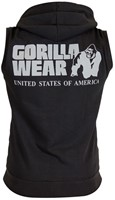 Gorilla Wear Springfield Sleeveless Zipped Hoodie Black-2