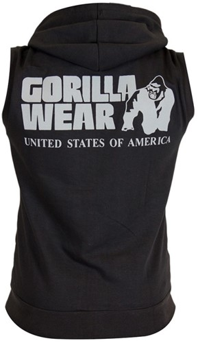 Gorilla Wear Springfield Sleeveless Zipped Hoodie - Zwart-2