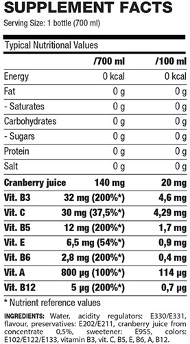 QNT Smart Vitamin - 24x700ml - Cranberry-2