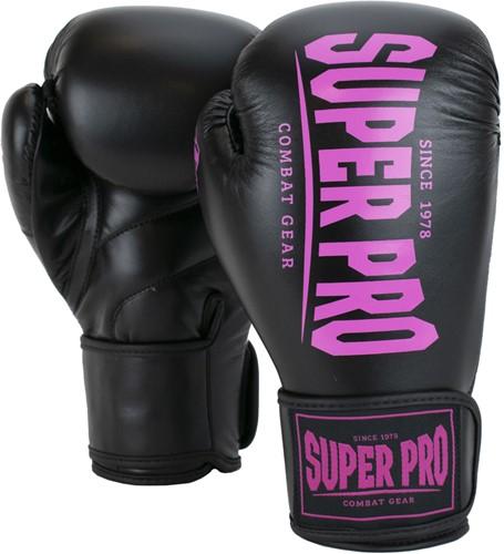 Super Pro Combat Gear Champ (Kick)Bokshandschoenen - Zwart/Roze